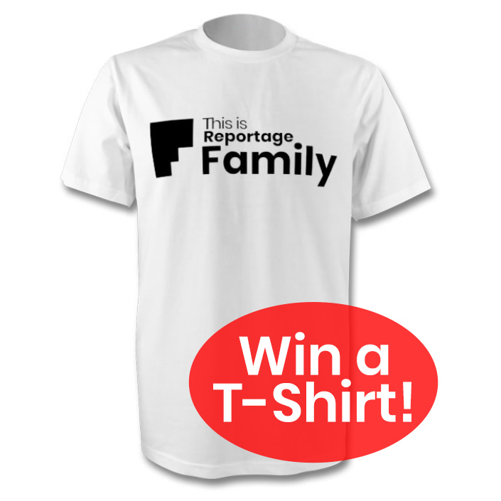 win a this is reportage: family t-shirt